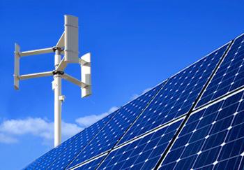 Produção Fotovoltaica - Turbinas Eólicas